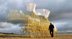 Подвижно изкуство чрез невероятните скулптури на Тео Янсен