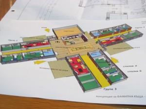 """План-скица на социалните домове на проекта """"Нов дом за нашите деца"""""""