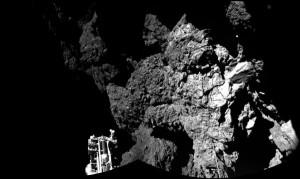 Първата снимка от кометата изпратена от  Philae