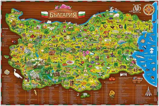 """""""Обичай родината"""" – Образователна карта на България за деца"""