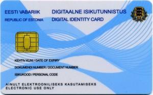Електронна карта за електронна идентичност в Естония