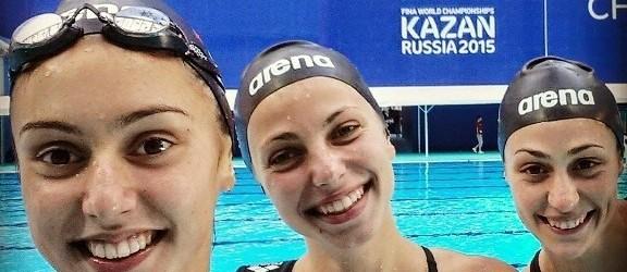 Българско участие в синхронно плуване на Световното първенство в гр. Казан 2015 (видео)