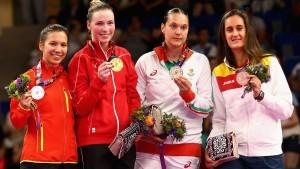 Петя Неделчева с медал от Баку 2014