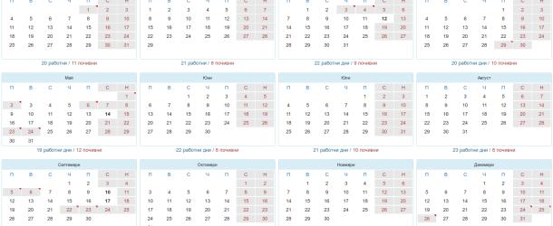 Почивните дни през 2016 година и дати за отработване