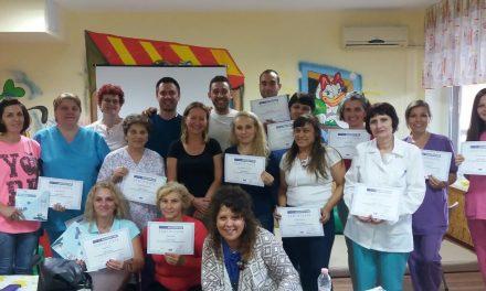 Водещи физиотерапевти от чужбина обучават специалистите от Дома за медико-социални грижи за работа с деца с церебрална парализа